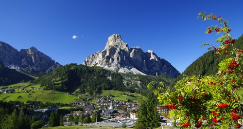 Corvara im Gadertal in Südtirol, Italien