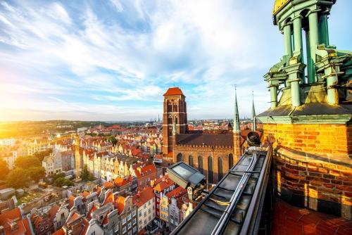 Blick auf die Marienkirche von Danzig in Polen