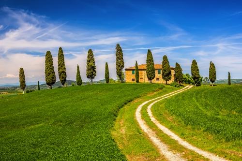 Villa Pienza im Val d'Orcia in der Toskana, Italien