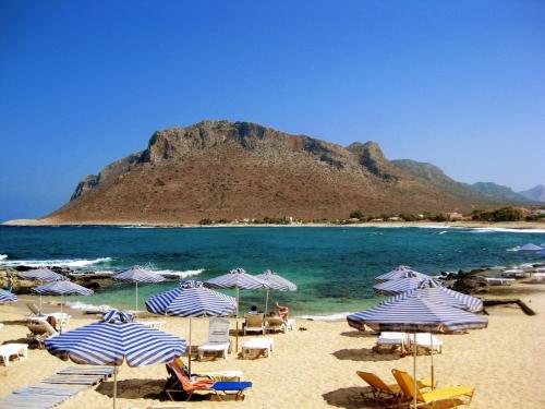 Strand von Stavros auf Kreta, Griechenland