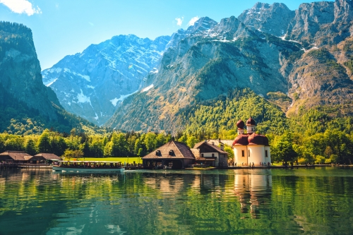Schönau am Königssee im oberbayerischen Landkreis Berchtesgadener Land, Deutschland