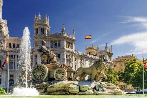 Brunnen von Cibeles auf dem Plaza de Cibeles in Madrid, Spanien