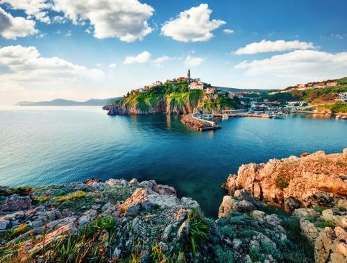 Vrbnik auf der Insel Krk in der Kvarner Bucht, Kroatien