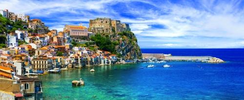 Scilla in Kalabrien nahe Sizilien, Italien