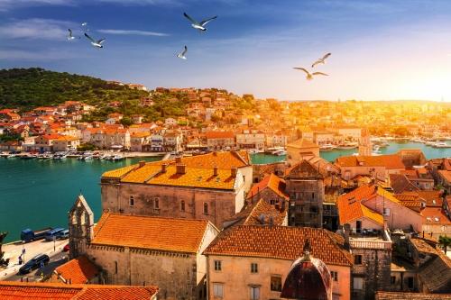 Trogir an der dalmatinischen Küste Kroatiens