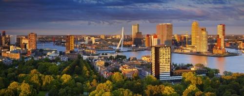 Panoramabild von Rotterdam in den Niederlanden