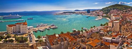Split an der dalmatinischen Küste Kroatiens