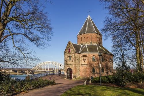 Nikolauskapelle oder Valkhofkapelle im niederländischen Nijmegen, Niederlande