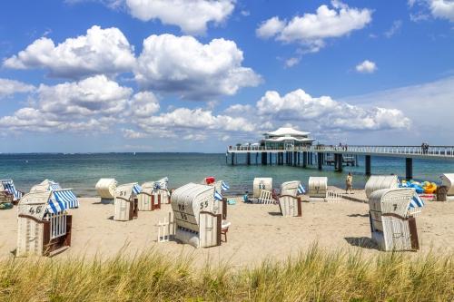 Timmendorfer Strand in Schleswig-Holstein, Deutschland