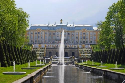 Schloss Peterhof in Sankt Petersburg, Russland