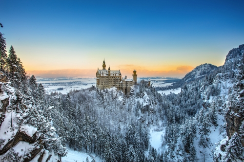 Schloss Neuschwanstein in Bayern, Deutschland