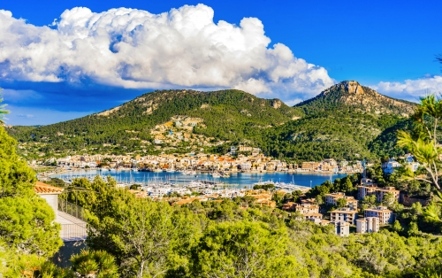 Panorama Majorca Spain Coast Place Port Andratx