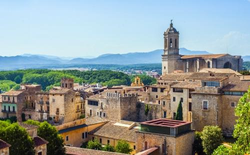 The medieval quarter of Gerona. Catalonia,  Spain.