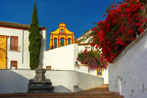 The street of Cordoba in th sunny day, Cordoba, Andalusia, Spain