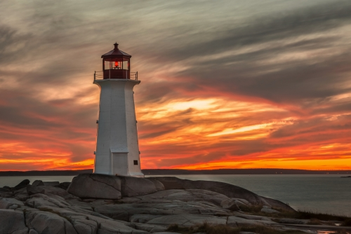 Sunset at the Lighthouse at Peggy