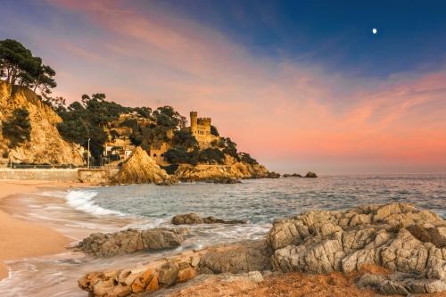 Resort town of Lloret de Mar, Costa Brava, Catalonia, Spain