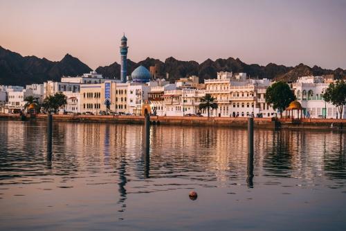 Sunrise in Muscat in Oman