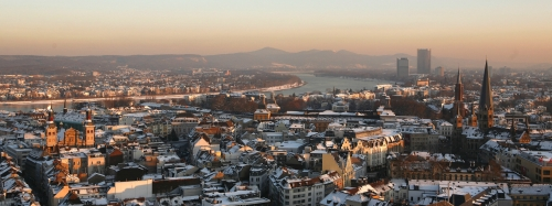 Winter Blick von Stadthaus