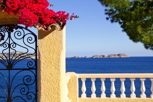 Mediterranean fence in Cala Fornells Mallorca