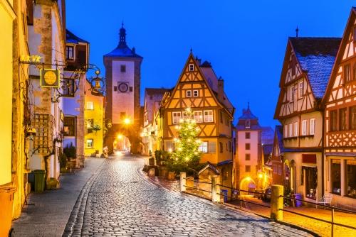 Rothenburg ob der Tauber in Bayern, Deutschland