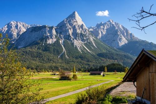 Alpenlandschaft in der Nähe von Pfunds in Österreich