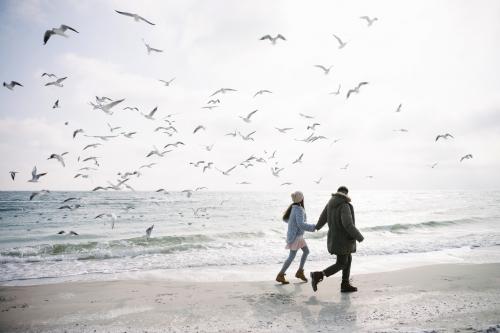 Winterspaziergang am Meer