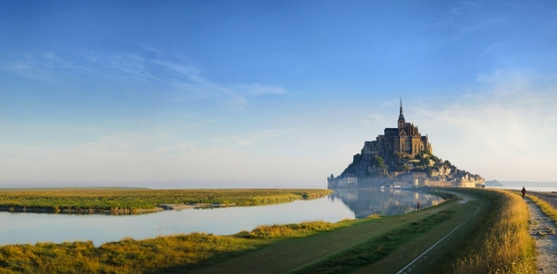 Mont Saint-Michel in der Normandie, Frankreich