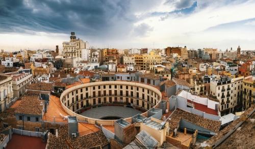 Plaza Redonda im Herzen der Altstadt von Valencia
