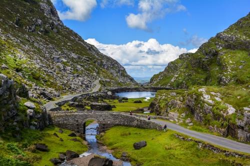 Dunloe-Schlucht in der Grafschaft Kerry, Irland