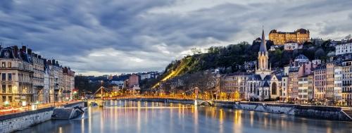 Lyon am Abend