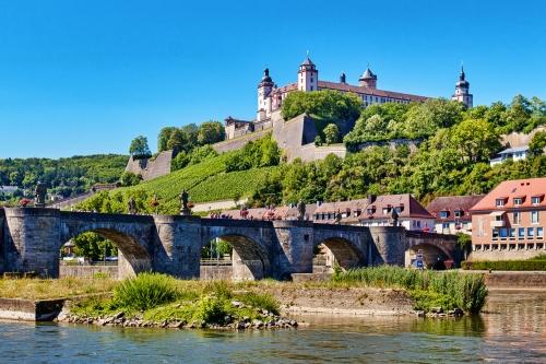 Festung Marienberg oberhalb von Würzburg in Unterfranken, Deutschland
