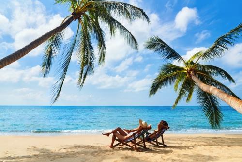 relaxen auf einer tropischen Insel
