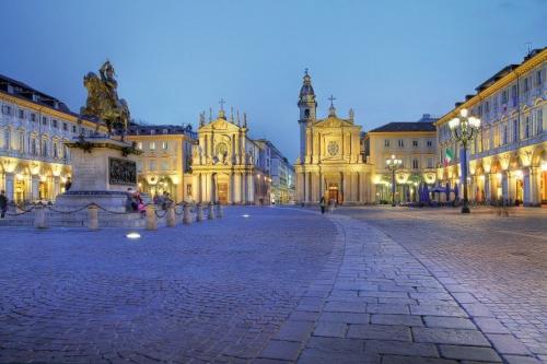 San Carlo Square in Turin/Torino, Italy