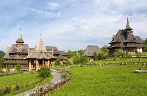 Barsana Monastery landscape view