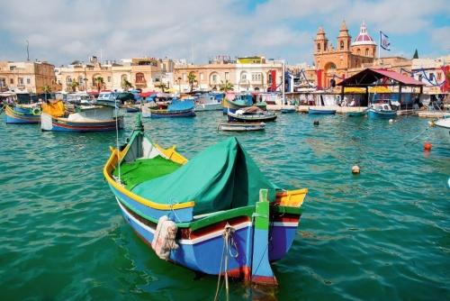 Boote im Hafen von Valletta
