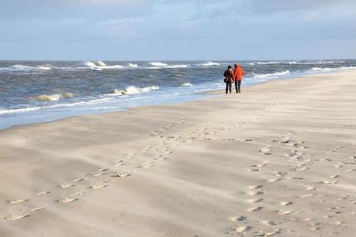 Nordseestrand im Winter auf Spiekeroog