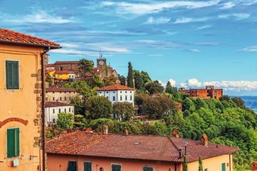 Italienischen Stadt Montekatini Alto. Stadtbild.