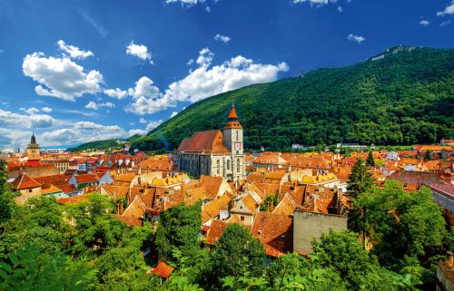 Brasov Stadtbild in Rumänien