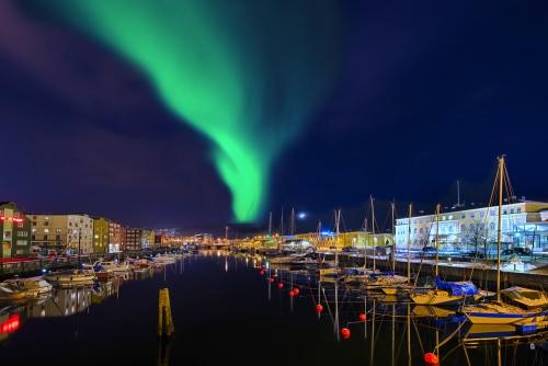 Nordlichter in Trondheim, Norwegen