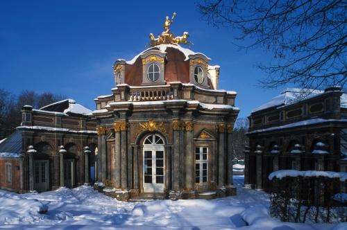 Orangerie und Sonnentempel in der Eremitage von Bayreuth
