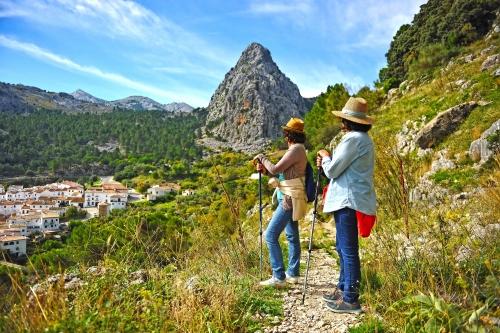 Wandern in Sierra de Grazalema- Naturpark in der Provinz Cadiz, Spanien