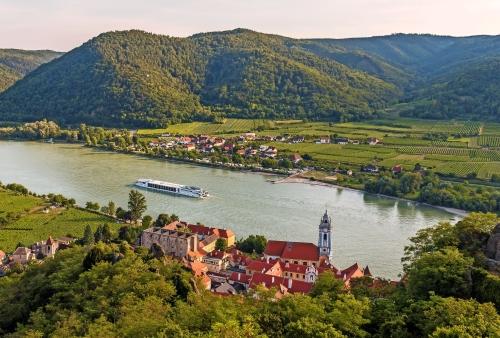 Dürnstein an der Donau in der Wachau, Österreich