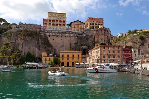 Marina Piccola, Sorrent, Golf von Neapel, Italien