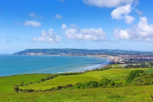 Isle of Wight Blick in Richtung Shanklin und Sandown