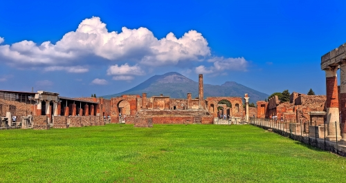 Pompeji und zum Vesuv, Neapel, Italien