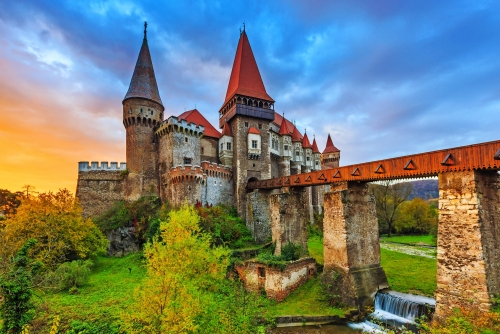Hunyad Schloß / Corvin Schloss in Hunedoara, Rumänien.