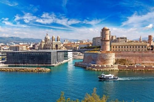 Saint Jean Schloss und die Kathedrale de la Major in Marseille