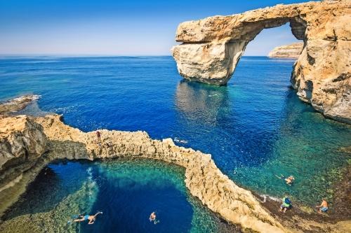 Die weltberühmte Azure Window in Gozo Insel Malta