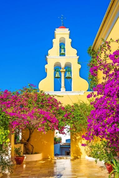 Theotokos Kloster, Paleokastritsa Stadt, Korfu Insel, Griechenland