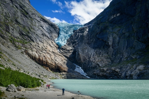 Festlandsgletscher Briksdalsbre in Norwegen